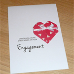 Engagement Card - Origami heart