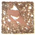 Magpie woodcut