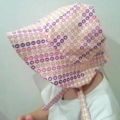 Adjustable Baby Sun Bonnet - Letters Multi-colours