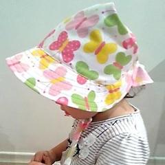 Adjustable Baby Sun Bonnet - Spring Series - Butterflies
