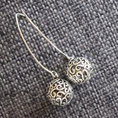 Filigree Orbs ~  Drop Earrings