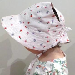 Adjustable Baby Sun Bonnet - Embroidery Spring time
