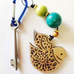Nordic Bird key ring