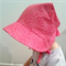 Adjustable Baby Sun Bonnet - Hot Pink Daisies