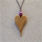 Solid Heart Pendant handcrafted from Camphor Laurel #H51