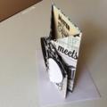 Wedding cards. Modern black/white heart wedding cards.