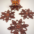 Star Mandala jarrah coasters (set of 4)