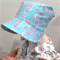 Adjustable Baby Sun Bonnet - Blue Cherry Blossoms