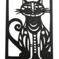 Cat woodcut