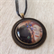 Art by Klimt necklace, kiss painting