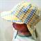 Adjustable Unisex Baby Sunhat legionnaire hat - Word finding green yellow
