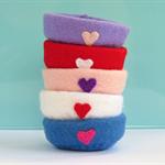 Wool felt nest accessory for pipsqueak felt creations