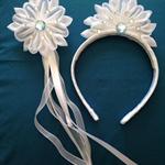 White petal Headband and Wand set