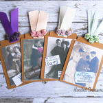 Handmade Kraft Tags Vintage Ladies & Gents Tags Ephemera - 4 Tags