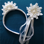 White Petal Headband and Wand set #1