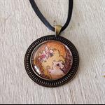 Toulouse Lautrec pendant, The Moulin Rouge necklace, Paris art
