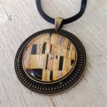 The Kiss pendant, Gustav Klimt art