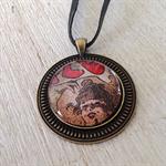 The Moulin Rouge necklace, art pendant by Lautrec