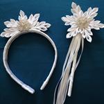 White Icicle Headband and Wand set