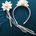 White Petal Headband and Wand set #3