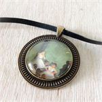 The Dancers, ballerina necklace, art by Degas, French artist