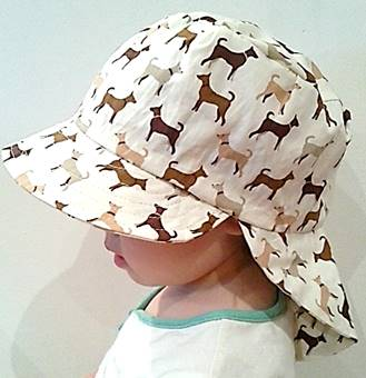 Adjustable Unisex Baby Sunhat - cute dogs