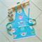 Kids Apron Teapots - lined kitchen/craft/play apron with pocket - vintage teapot