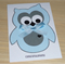 Baby Boy card - cute blue owl!