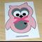 Baby Girl card - cute pink owl!