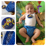 NAPPY COVER SET - 'Little Digger ', Boys, Nappy Pants, Diaper Covers