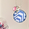 Blue and White Glass Pendant Necklace with Ice Cream Charm