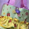 Yellow Garden girls tote, bag