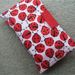 Nappy and Wipe Holder - Ladybugs - Red, Black and White - Unisex - Gift