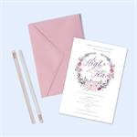 Custom Digital Printable Invitation - High Tea Party - Plum Floral Wreath