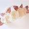 """Ivory Belle"" nylon headband in ivory/cream and rose gold"