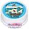 Pirate Ship Personalised Round Edible Icing Cake Topper - PRE-CUT