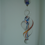 White Helix Twist Sun Catcher - Light Catcher