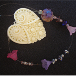 Carved Heart  Sun Catcher - Light Catcher