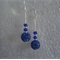 Cobalt Blue Shamballa Earrings