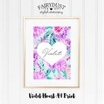 Violet Heart A4 Print