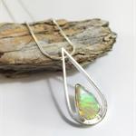 Floating Teardrop Opal Pendant