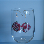 Floral Disk Faux Shell Earrings