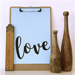 Blue Love A4 Print Wall Art Nursery