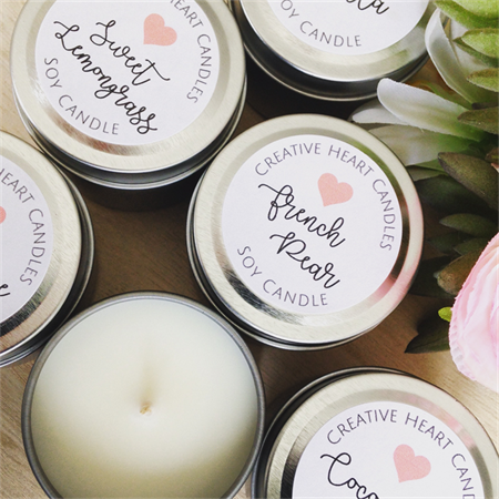 6 x Petite Soy Candle Tins - Best Selling Fragrances - Gift Pack