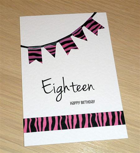 Girls 18th Birthday card - OR ANY AGE!