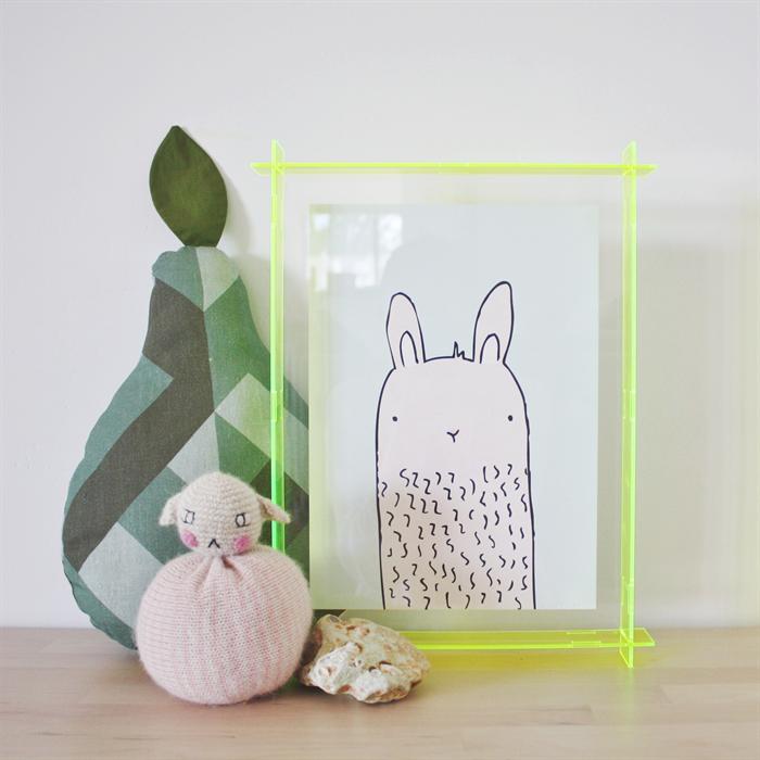9ce42698fc0 A4 Acrylic Box Frame Neon Yellow Lecky Studio Madeit Com Au
