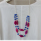 Hot pink and cobalt blue necklace