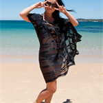 Silk cover up, kaftan, Perfect for beach, cruise, resort, holiday