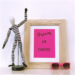 Pink Dream in Neon A5 Print Wall Art