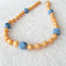 Silicone teething necklace: Aztec gold and blue